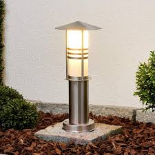 Patio Pillar Lights Decorative Erina Stainless Steel Pillar Light Lights Co Uk
