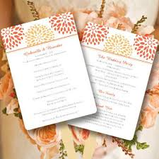 petal fan wedding programs wedding program fans templates for diy ceremony fan wedding
