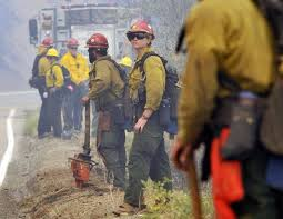 California Wildfires Hume Lake by Favorable Weather Allows Firefighters To Directly Fight Rough Fire