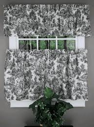 Cafe Tier Curtains Victoria Park Toile Is An Elegant Large Scale Toile Printed On 100