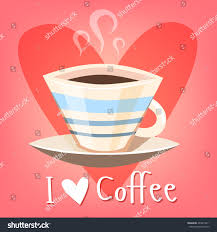 Cute Coffee Cups Love Coffee Cute Coffee Cup Vector Stock Vector 204874411