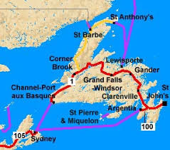 map of st and miquelon st s map