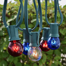 50 c9 patriotic globe string lights green wire