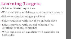 multi step algebra equations worksheets