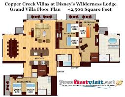 villas at wilderness lodge floor plan home decorating interior