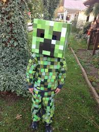 Minecraft Creeper Halloween Costume Diy Minecraft Creeper Costume Gray Sweatsuit 1 5 Squares