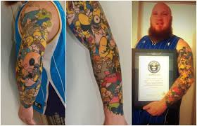guinness world records most tattoos of the same cartoon character