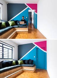 wall decor idea create a modern mural using painters tape