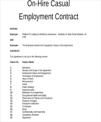 8 employment contract templates free sample example format