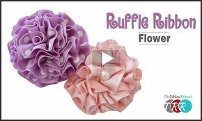 ruffle ribbon ribbon flower thursday the ribbon retreat