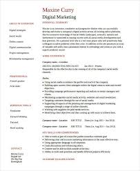 Free Marketing Resume Templates Free Marketing Resume Templates 26 Free Word Pdf Documents