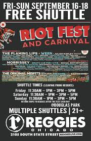 Riot Fest Chicago Map shuttle to riot fest reggies chicago