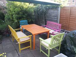 Outdoor Garden Chairs Uk Candy Summer Garden Furniture A Painted Table Decorating On