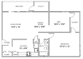 new york apartment floor plans apartment floor plans one bedroom den apartments in clifton