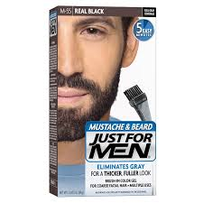 buy just for men brush in color gel for mustache and beard real