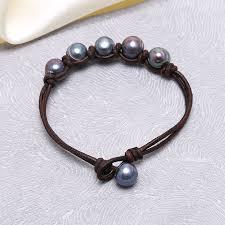 leather bracelet knots images Aobei pearl peacock pearl knot bracelet leather bracelet pearl jpg