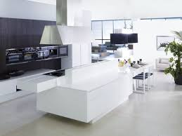 porcelanosa cuisine contemporary kitchen wood veneer island lacquered g590
