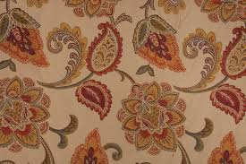 tapestry upholstery fabric in hibiscus