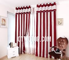 best of red and white striped curtains and red and white curtains