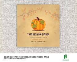 thanksgiving dinner invitations card invitation templates