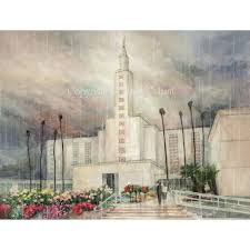 angeles temple watercolor painting