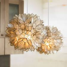 Capiz Light Pendant Pendant Lights Decorating Ideas Interactive Modern Hanging