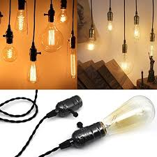 triple light bulb socket vintage 4 light sockets pendant hanging light cord with switches