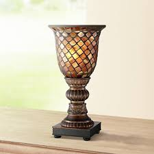 Uplight Table L Mosaic Brown Glass 12 High Uplight Accent L 6d103 Ls Plus