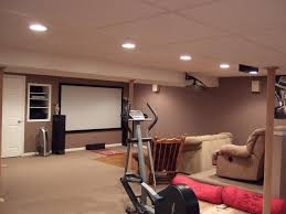 attractive finished basement design ideas image of modern basement
