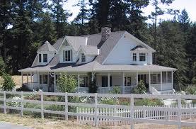 white house with wrap around porch home design ideas