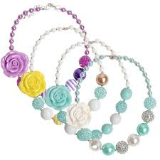 childrens necklace 2017 four style kids flower pendants necklaces