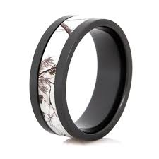 realtree wedding bands black zirconium realtree ring ap snow wedding band camo
