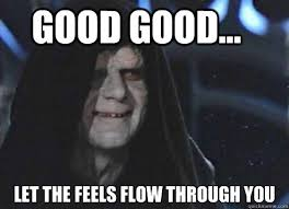 The Feels Meme - good good let the feels flow through you let the hate flow