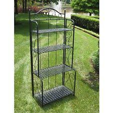 Metal Bakers Rack Folding Bakers Rack Ebay