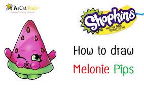 how to draw shopkins season 1 melonie pips ultra rare youtube