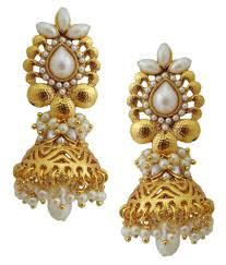 buy jhumka earrings online lalso golden jhumka earrings buy lalso golden jhumka earrings