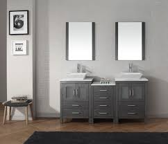 virtu usa 66 bathroom vanity set in zebra grey