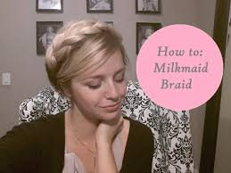 hairstyles for short medium length hair milkmaid braid for short or medium length hair halo braid youtube