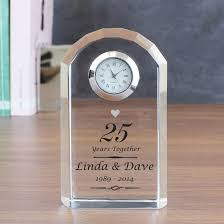 silver anniversary gifts personalised silver wedding anniversary clock find me a gift