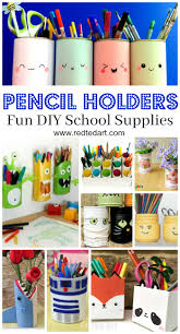 pencil holder diy ideas red ted art u0027s blog