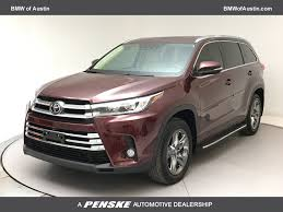 suv toyota 2017 2017 used toyota highlander limited platinum v6 fwd at bmw of