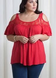 plus size blouse lace design cold shoulder plus size blouse addicted2fashion