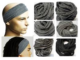 mens headband dreadband mens hair accessory dreadlock wrap