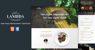 free one page restaurant html template free html5 templates