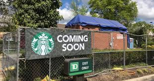 starbucks opening drive through only shop in ridgewood