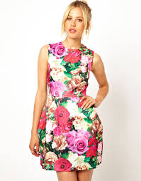 asos structured floral tulip dress what to wear u2014 fashion