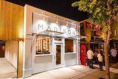 The Patio San Diego Madison Features A Massive Wooden Arch Over The Patio Like An