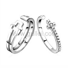 His And Hers Engraved Bracelets Engraved Sterling Silver Wedding Rings Set For Man And Woman