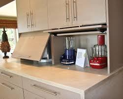 garage door for kitchen cabinet alucina design studio appliance garage small kitchen