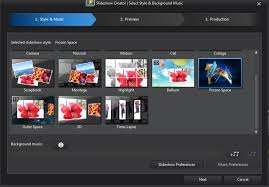 powerdirector slideshow templates there re not slideshow templates of frozen space balloon in
